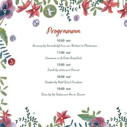 Mr & Mrs trouwkaart Bohemian wedding 2
