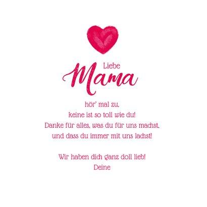 Muttertagskarte Allerliebste Mama Herz 3