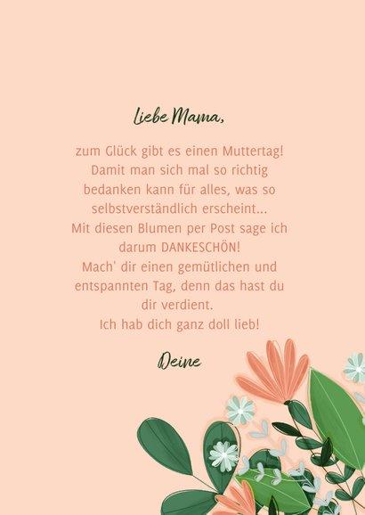 Muttertagskarte Blumen aus dem Umschlag 3