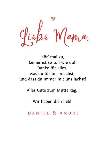 Muttertagskarte Blumenkranz, Foto und Herzchen 3