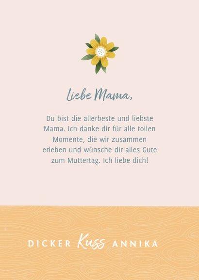Muttertagskarte Foto & Blumen in Vase 3