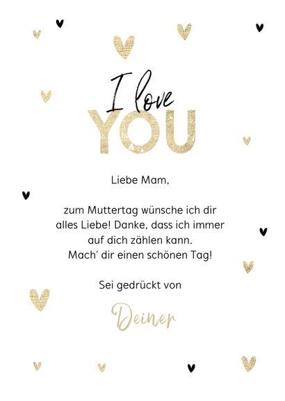 Muttertagskarte Gold wert 3