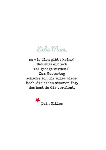 Muttertagskarte 'Great Mom' 3