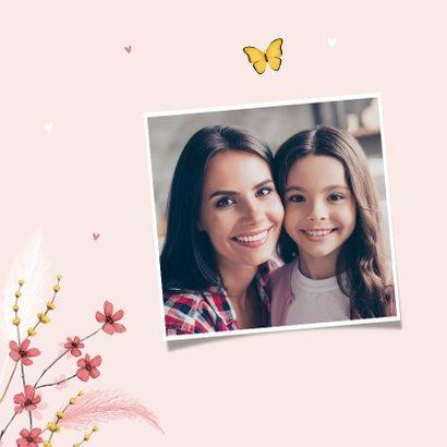 Muttertagskarte 'I love you' Foto & Schmetterling 2