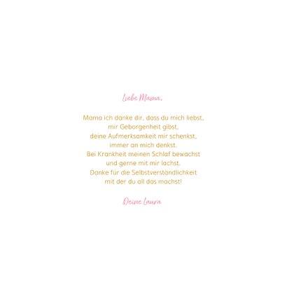 Muttertagskarte 'Liebe Mama' mit Herzen 3