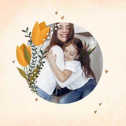 Muttertagskarte Liebste Mama mit Tulpen & Foto innen 2