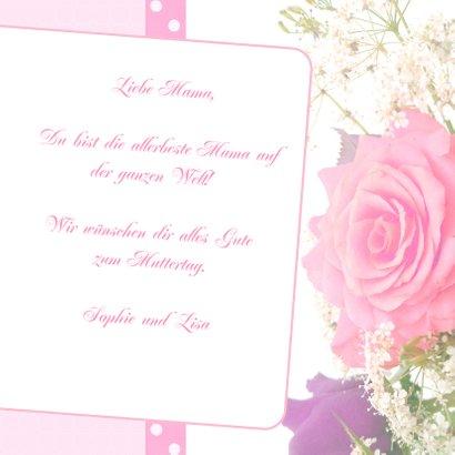 Muttertagskarte mit Foto und Rose 3