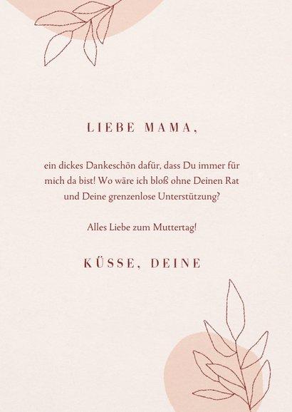Muttertagskarte Pokal Boho 3