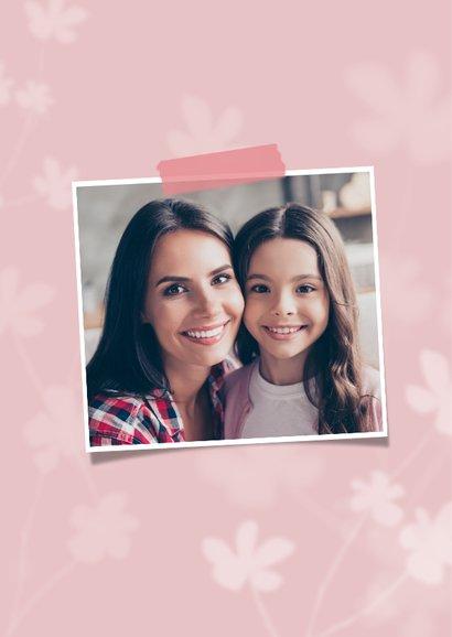 Muttertagskarte stilvoll Foto und Blumen 2