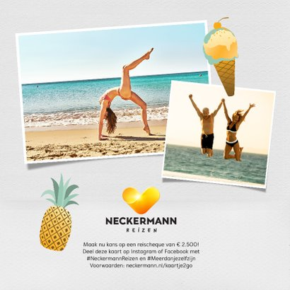 Neckermann vakantiekaart met flamingo's en eigen foto 2