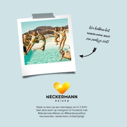 Neckermann vakantiekaart met polaroid fotokader 2