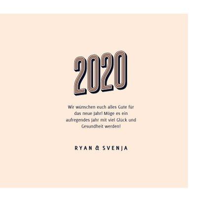 Neujahrskarte 2020 Typografie 3