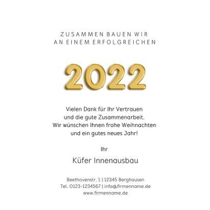 Neujahrskarte Baubranche 2022 Mutter 3