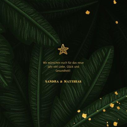Neujahrskarte botanisch Dschungel Blätter 3