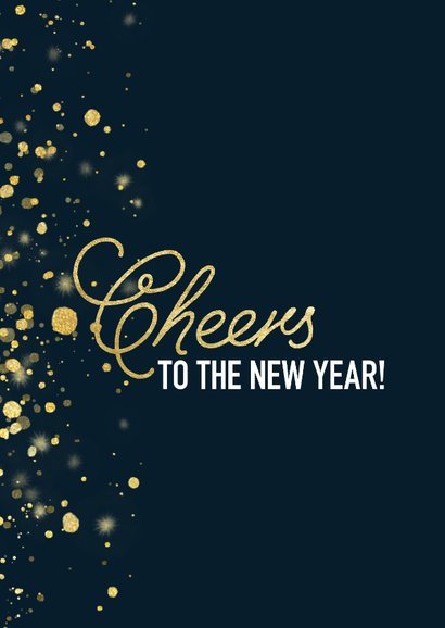 Neujahrskarte 'Cheers to the new year' mit Foto 2