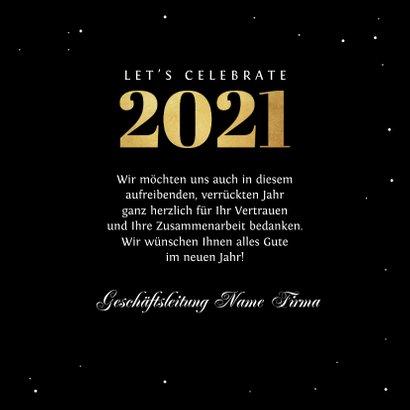 Neujahrskarte Firma Sternenhimmel 3