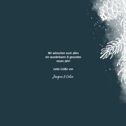 Neujahrskarte Foto mit weißen Tannenzweigen 3