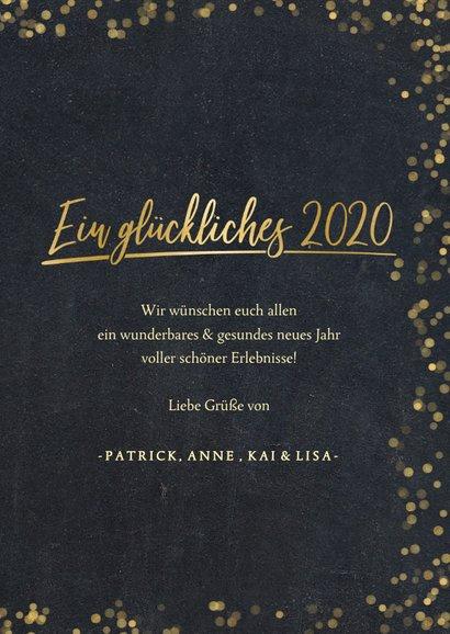 Neujahrskarte Fotocollage goldene 2020 3