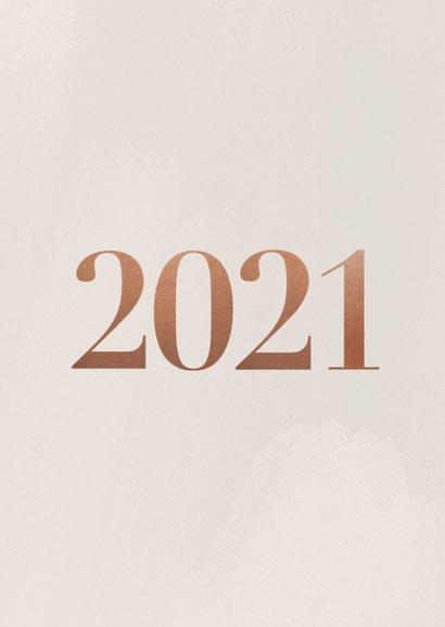 Neujahrskarte Fotocollage Kupfer 2021 2