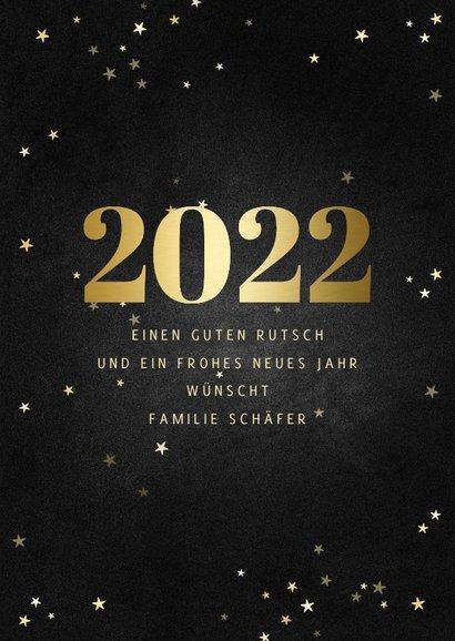 Neujahrskarte Fotocollage mit großer 2022 & Sternen 3