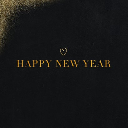 Neujahrskarte Goldlook mit Foto & Herz 2