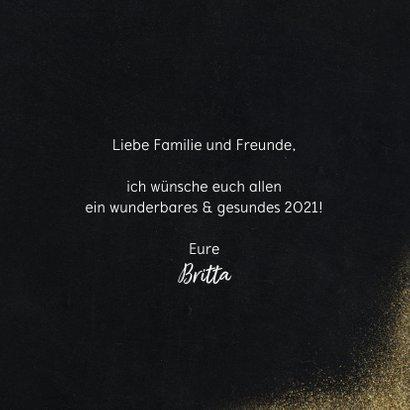 Neujahrskarte Goldlook mit Foto & Herz 3
