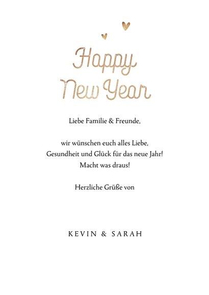 Neujahrskarte mit Fotocollage hip 3