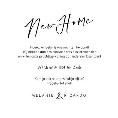 New home verhuiskaart samenwonen foto sleutel hartjes 3