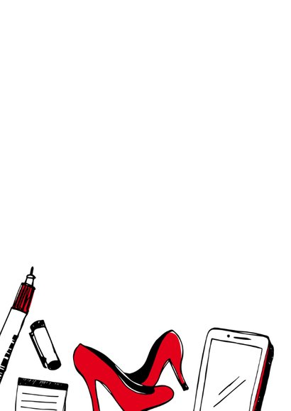 Nieuwe baan tekeningen - vrouw  2