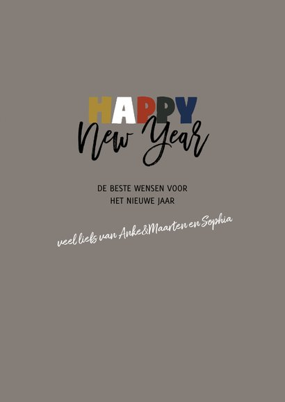 Nieuwjaar 2019 gekleurde cijfers  3
