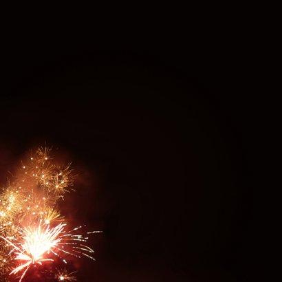 Nieuwjaar - 2021 vuurwerk Achterkant