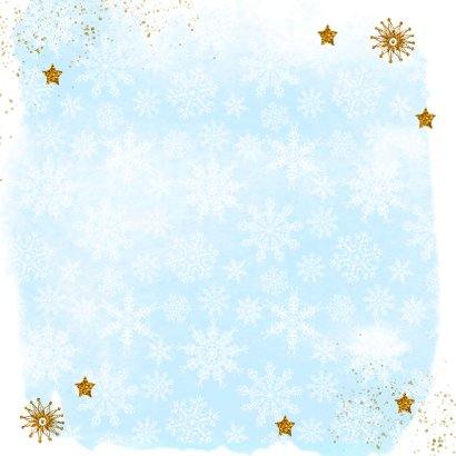 Nieuwjaar kristal handlettering goud Achterkant