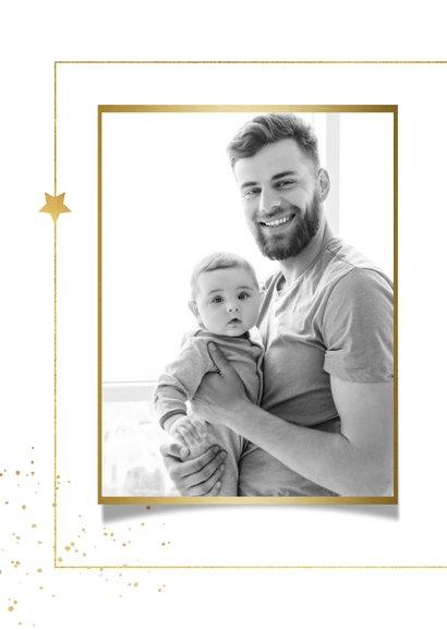 Nieuwjaarkaart typografie goud sterren spetters foto 2