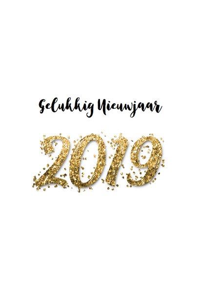 Nieuwjaars borrel confetti goud 2019 2