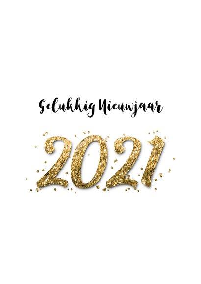 Nieuwjaars borrel confetti goud 2