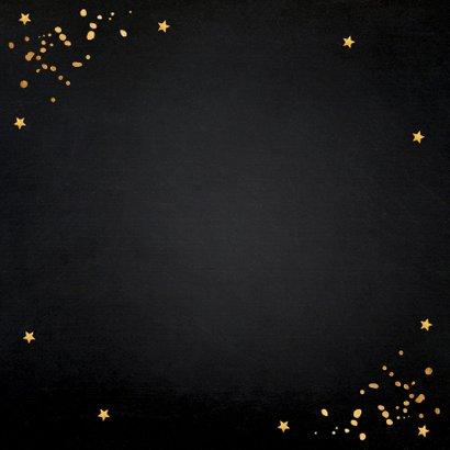 Nieuwjaarsborrel confetti typografie goudlook 2