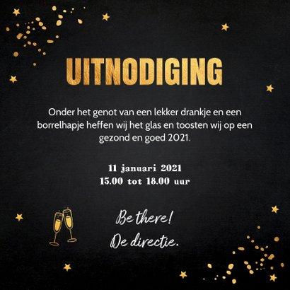 Nieuwjaarsborrel confetti typografie goudlook 3
