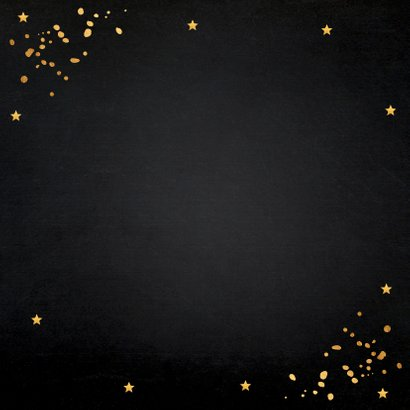 Nieuwjaarsborrel goud confetti typografie 2020 2