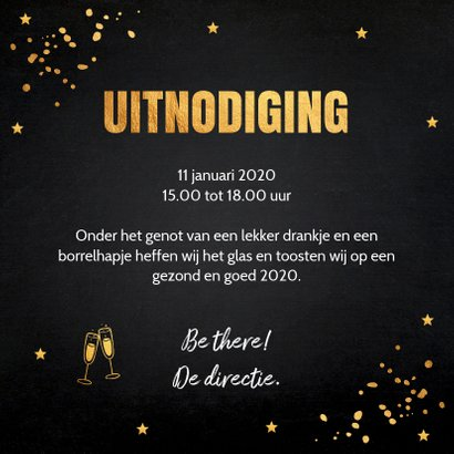 Nieuwjaarsborrel goud confetti typografie 2020 3