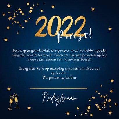Nieuwjaarsborrel uitnodiging confetti goudlook online 3
