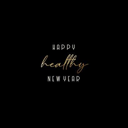 Nieuwjaarscollage Happy Healthy New Year goudlook 2