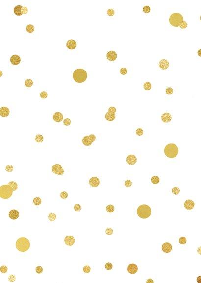 Nieuwjaarskaart 2019 confetti goud 2