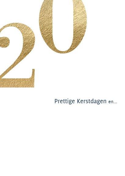 Nieuwjaarskaart 2019 goud en donker blauw 2
