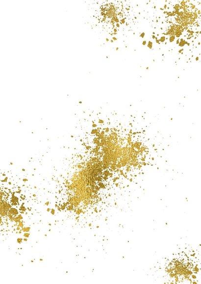 Nieuwjaarskaart 2019 goudspetters en ballonnen 2