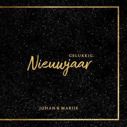 Nieuwjaarskaart 2019 met foto en gouden kader 3
