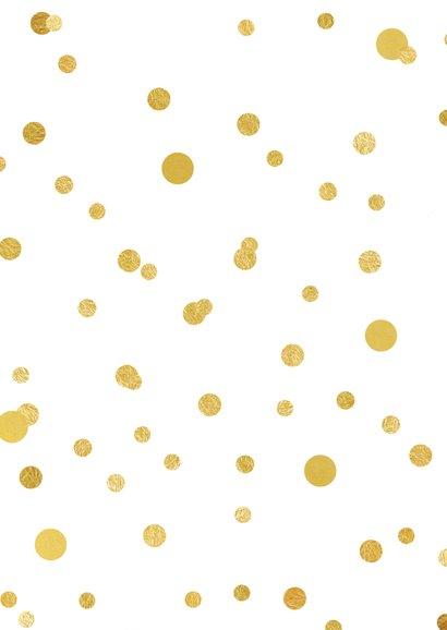 Nieuwjaarskaart 2020 confetti goud 2