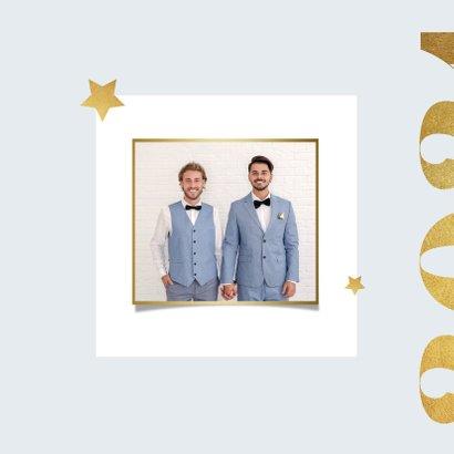 Nieuwjaarskaart 2021 goud modern grafisch foto 2