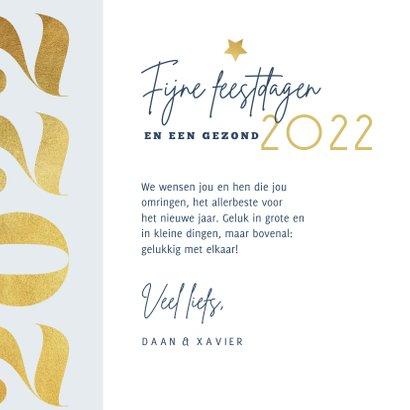 Nieuwjaarskaart 2022 goud modern grafisch foto 3