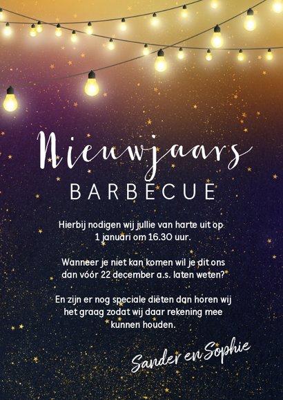 Nieuwjaarskaart een uitnodiging voor een barbecue 3