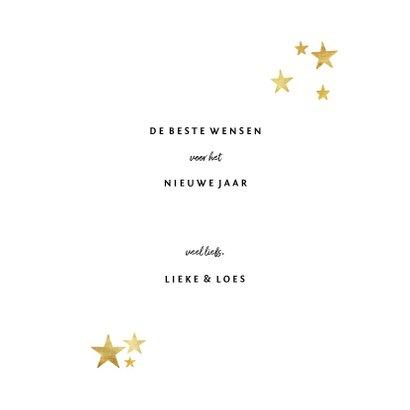 Nieuwjaarskaart feestelijk gouden kader met confetti 3